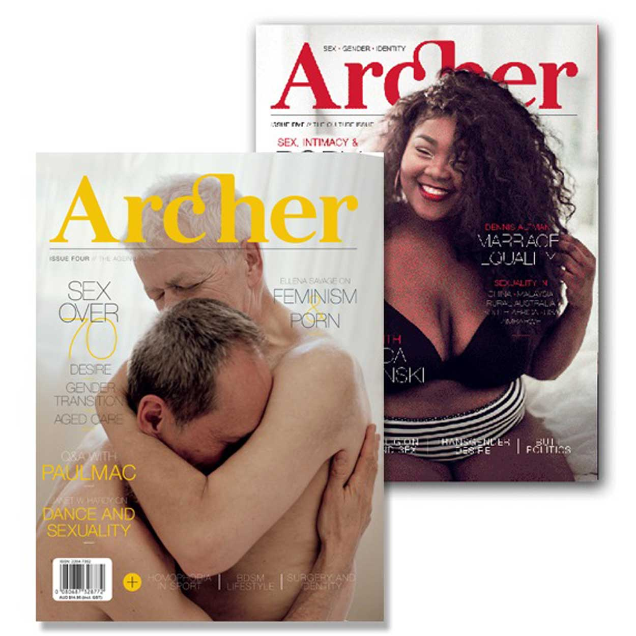 Archer Magazine  is an award-winning print publication about sexuality, gender and identity. It is published twice-yearly out of Melbourne, Australia, with a focus on lesser-heard voices and the uniqueness of our experiences.  Find out more here.
