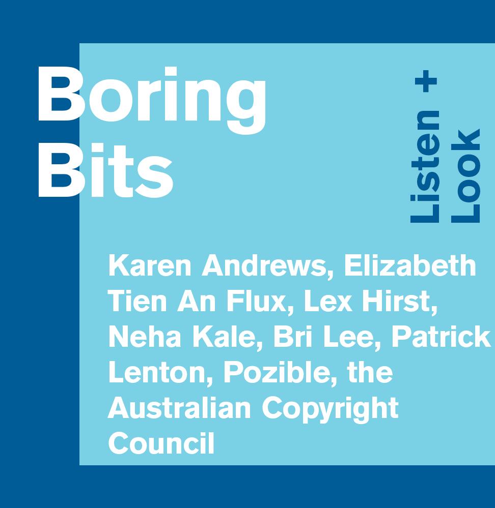 Boring Bits: Listen + Look