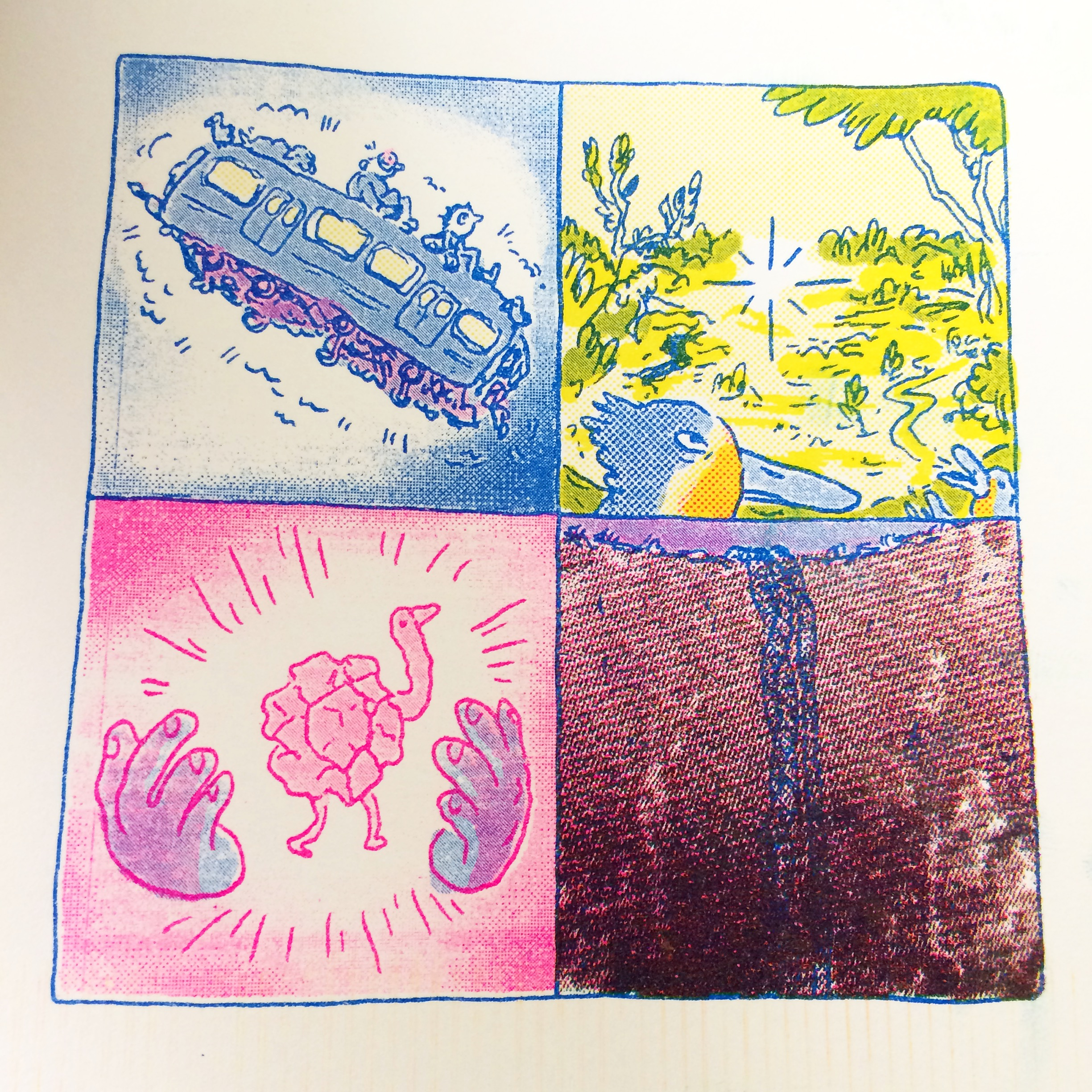 Glom Press is a risograph printer from Melbourne in Australia run by Michael Hawkins and Marc Pearson.They will be selling comics and risograph prints. Find out more here.