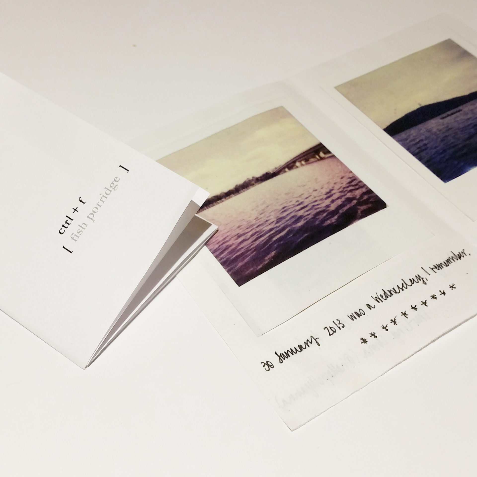 Shu-Ling Chua  (writer) &  Zhi Yi Cham  (poet) are Canberra-based. Shu-Ling's zines feature Polaroid photos taken in Canberra / Berlin & words on relationships, fleeting and longer-than-expected. Zhi's zines explore her relationships with place & family / her loss.