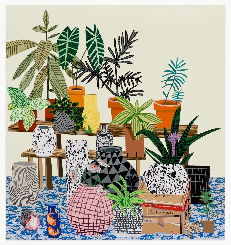 Jonas Wood 's Still Life Interiors
