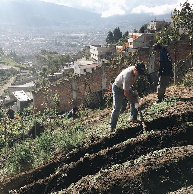 This past week we partnered with @educationequalshope  and helped plant corn on STEEP mountain sides.  We were incredibly blessed by the community of Emaús and the St. Mary's team.  #hopeontheground #educationequalshope