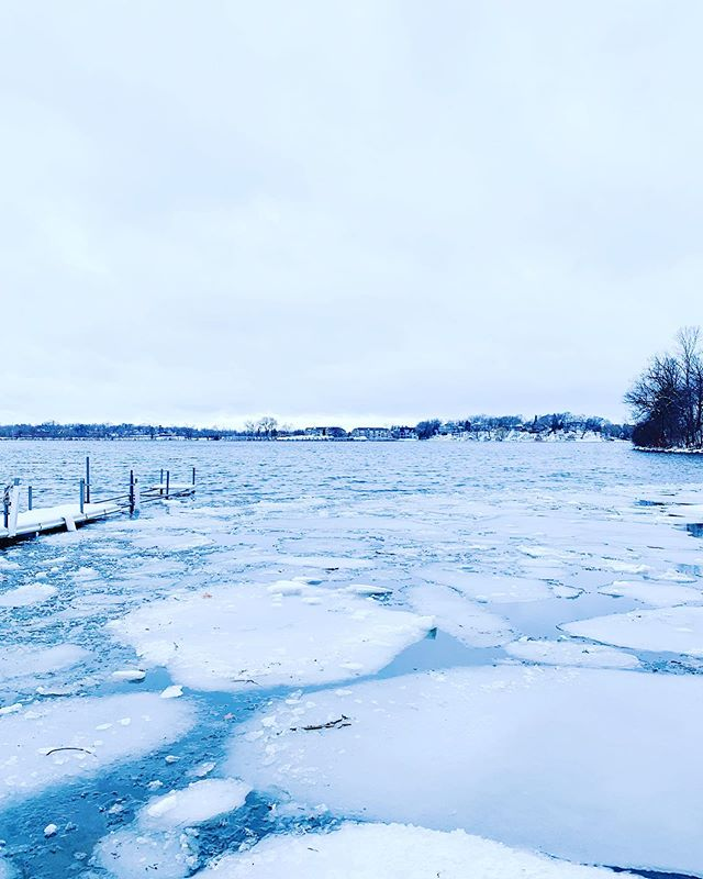 If the only ice left doesn't make it past the dock, ice out is a safe call. 4.12.19