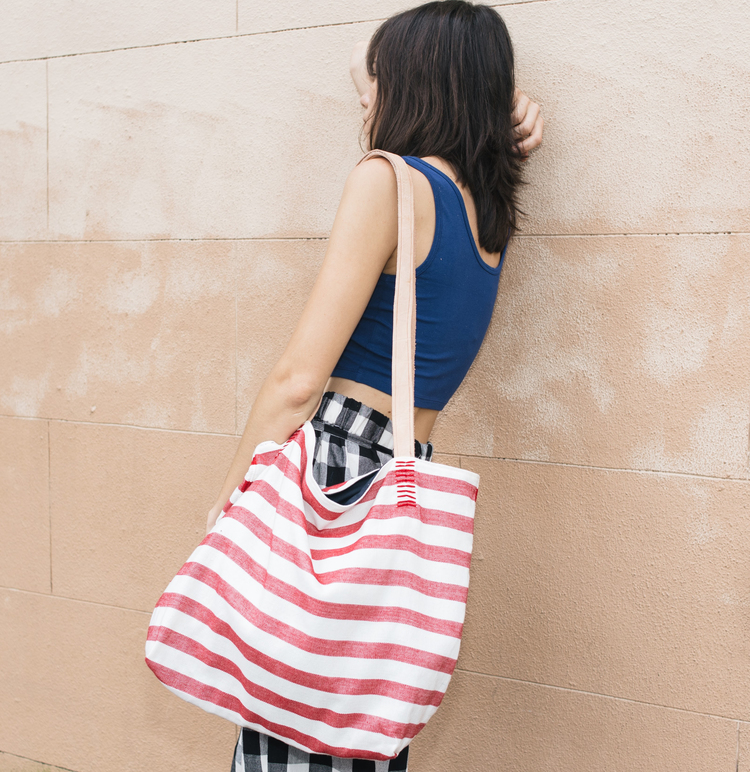 Proud Mary Striped Tote $32 SALE