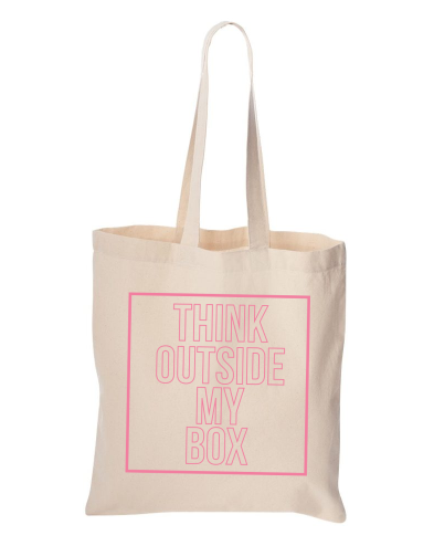 Bulletin Think Outside of my Box Tote $20