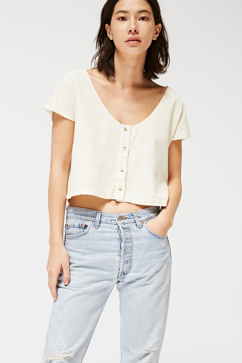 La Causa Reverisble Top $110 https://www.lacausaclothing.com/collections/new-releases/products/reversible-silk-top-natural