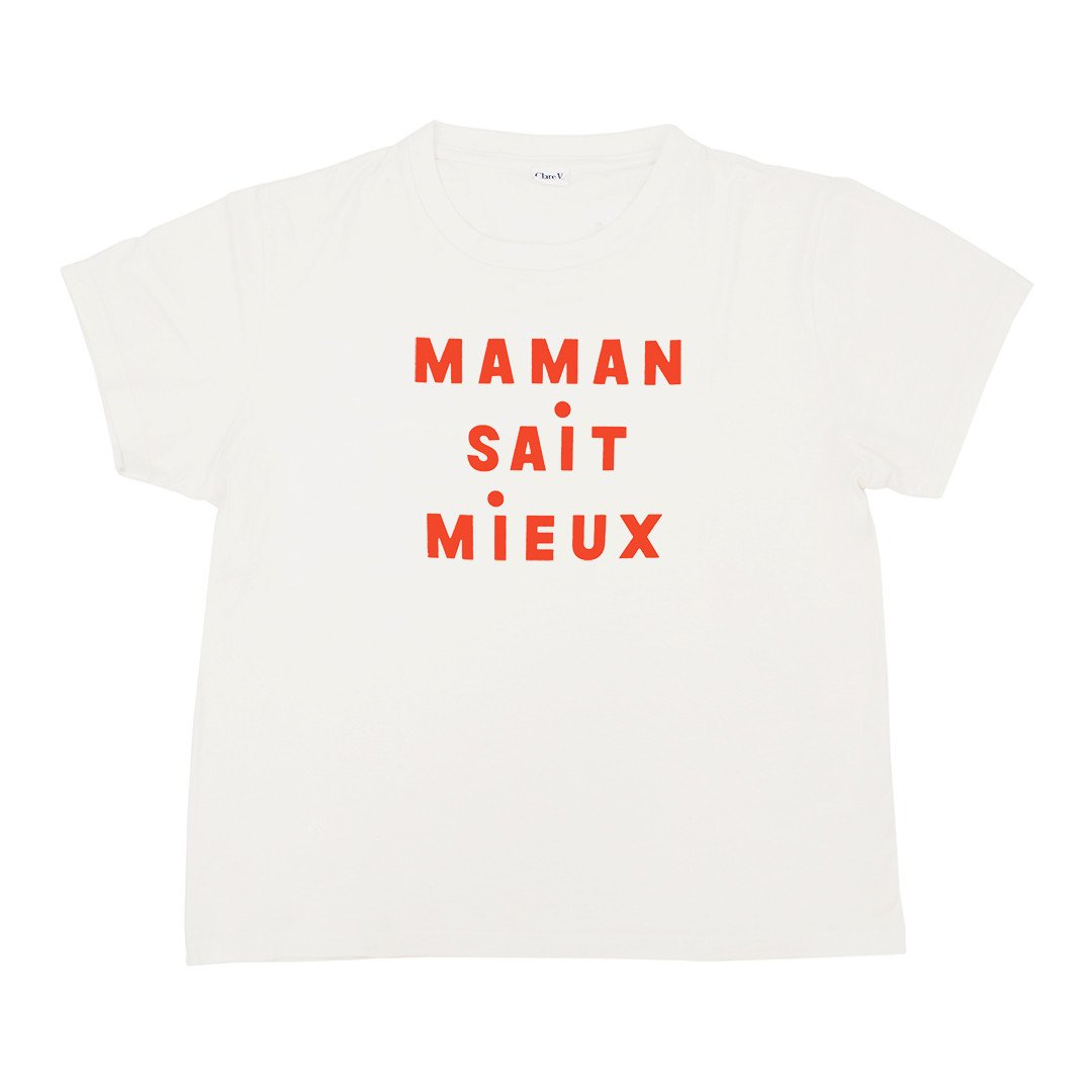 "Clare V ""Mother Knows Best"" Tee $99"
