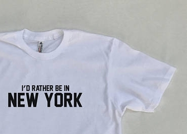 Rather be in NYC Tee $21