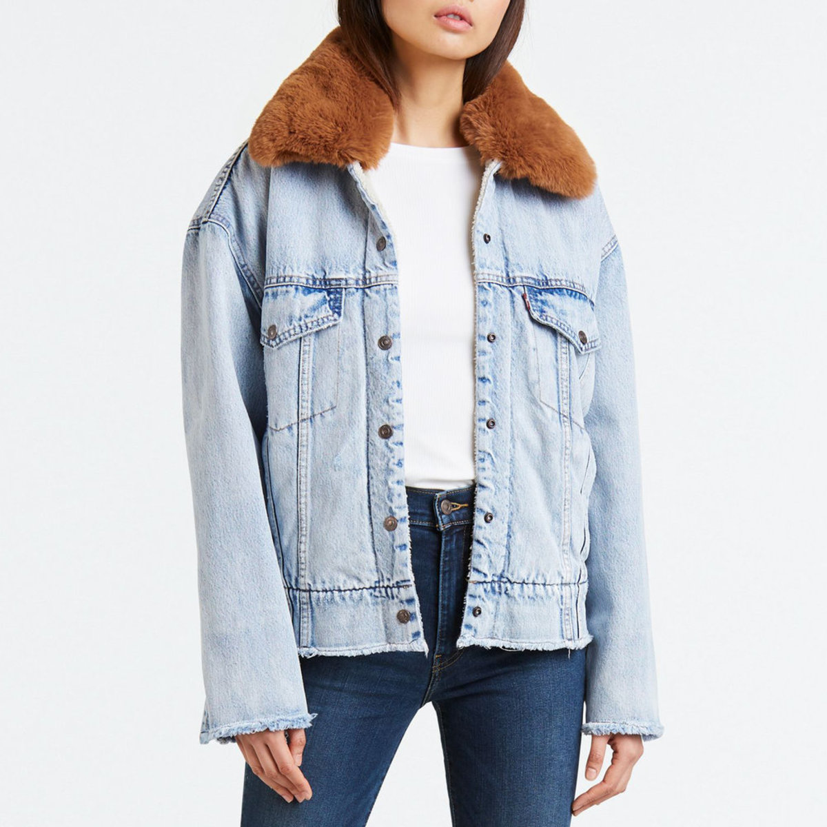 Levi's Sherpa Jacket w/ Removable Fur Collar $168