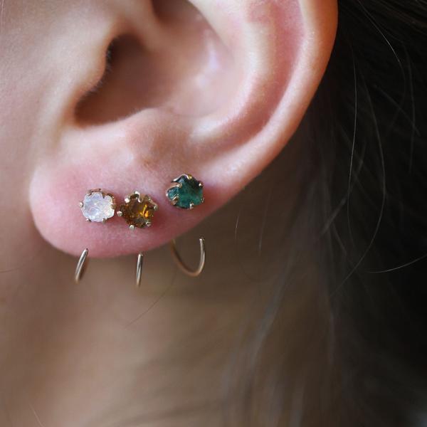 Erica Weiner Emerald Earrings $165