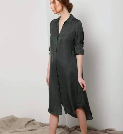 Neu Nomads Washable Silk Shirt Dress $135