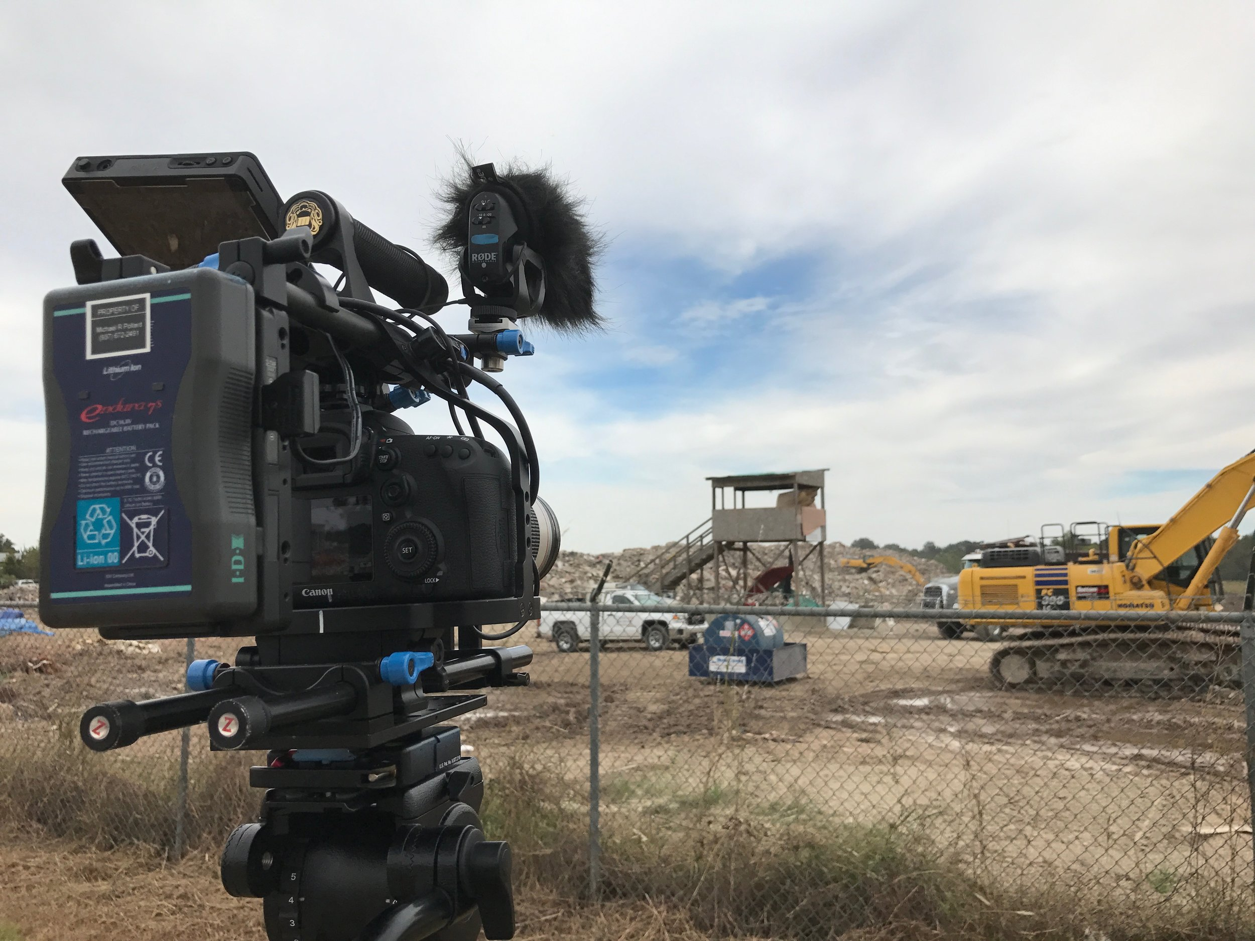 B-ROLL AT ONE OF THE TWO TEMPORARY DUMP SITES.