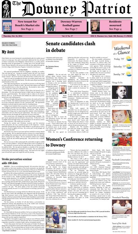 Vol. 13, No. 27, October 16, 2014