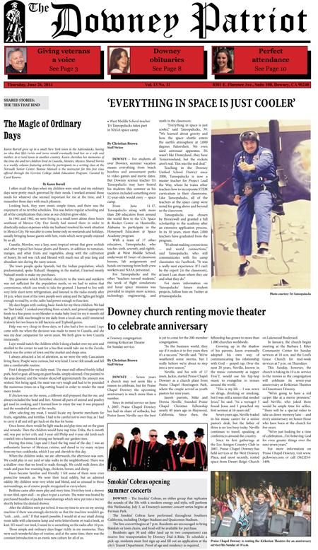 Vol. 13, No. 11, June 26, 2014