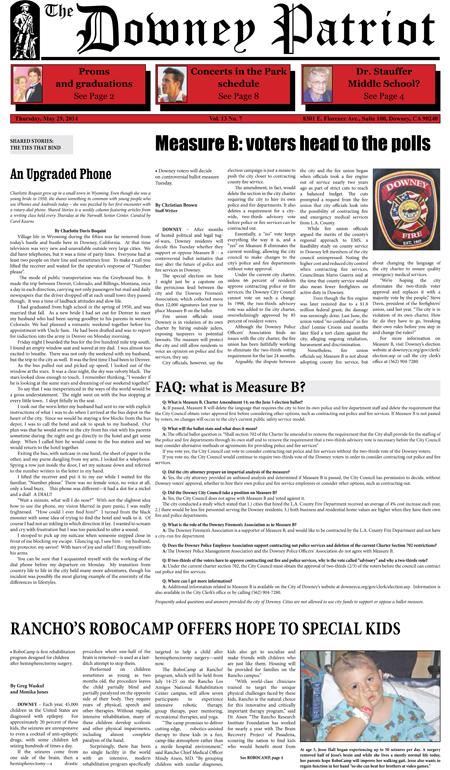 Vol. 13, No. 7, May 29, 2014