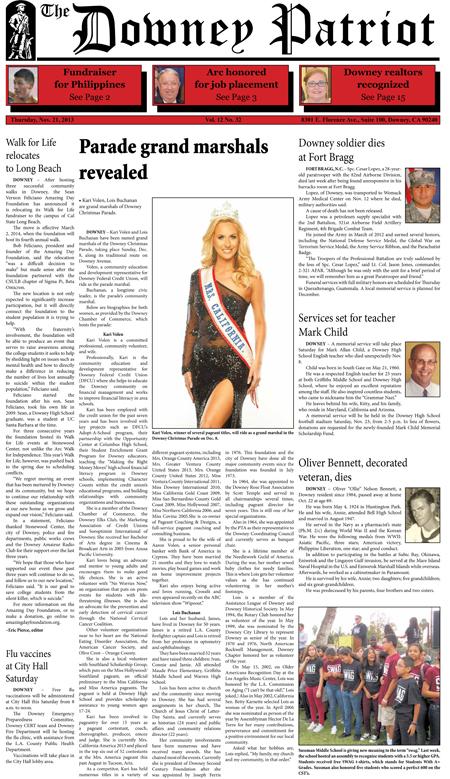 Vol. 12, No. 32, November 21, 2013