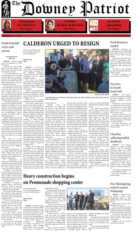 Vol. 12, No. 31, November 14, 2013