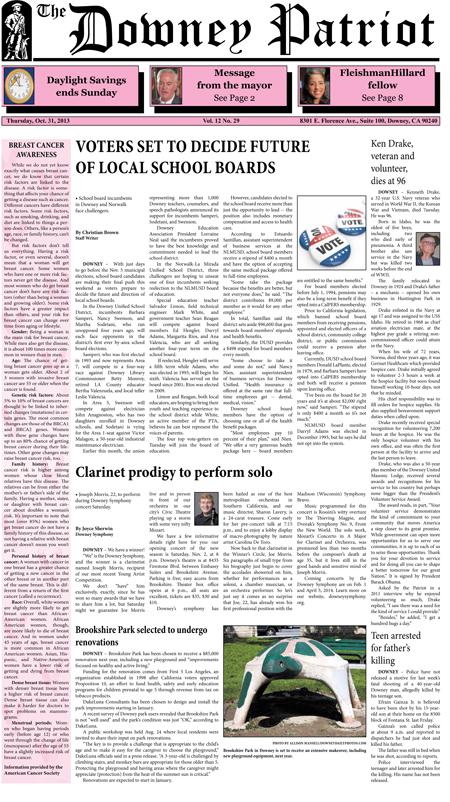 Vol. 12, No. 29, October 31, 2013