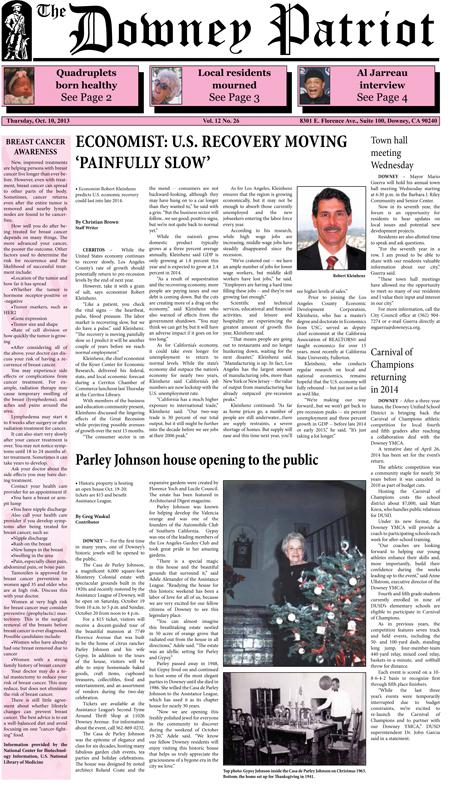 Vol. 12, No. 26, October 10, 2013