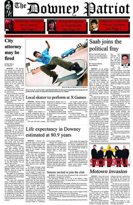 Vol. 9, No. 15, July 29, 2010