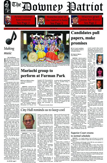 Vol. 9, No. 14, July 22, 2010