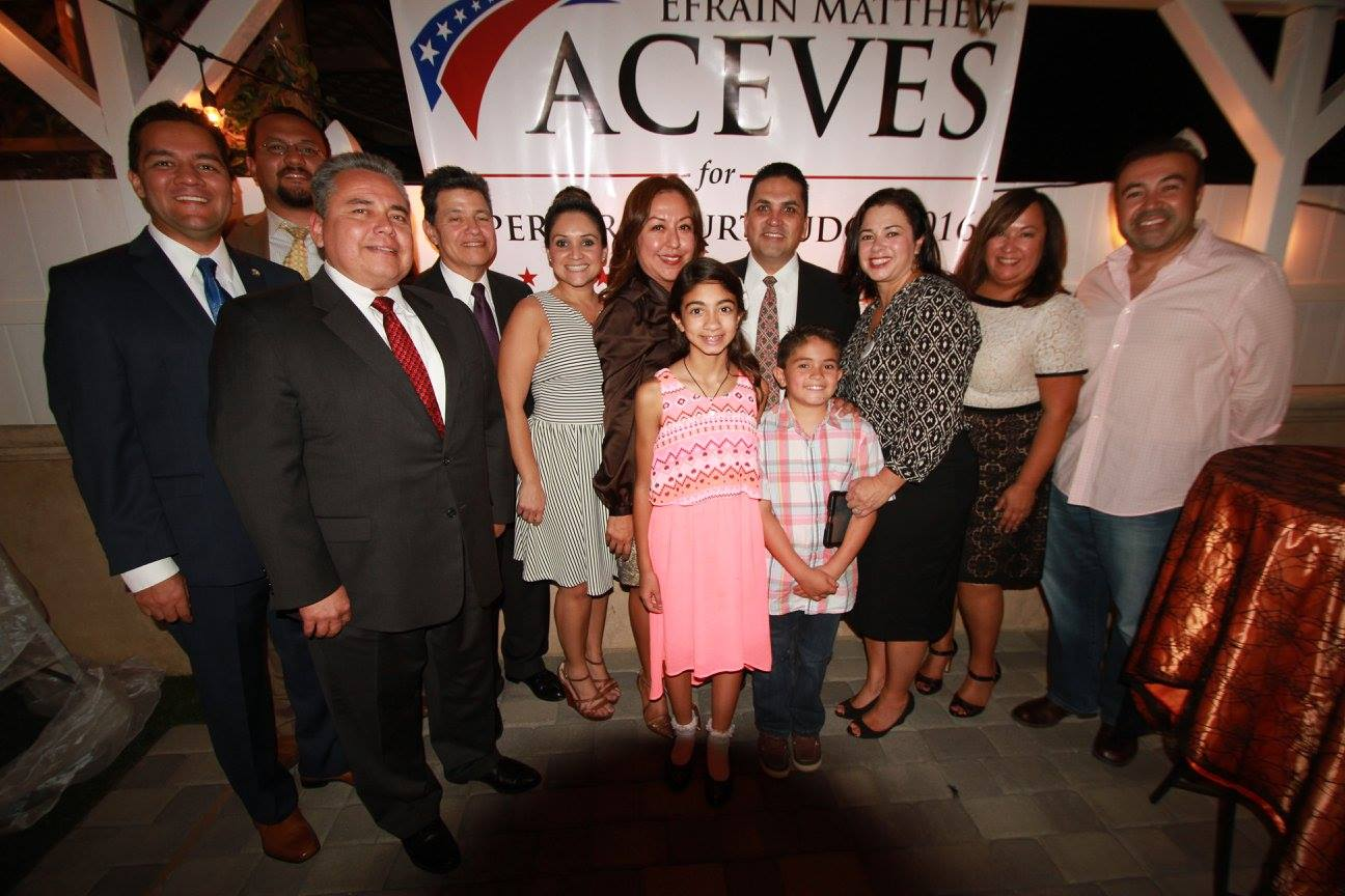 Prosecutor Efrain Aceves kicks off campaign for L A  Superior Court