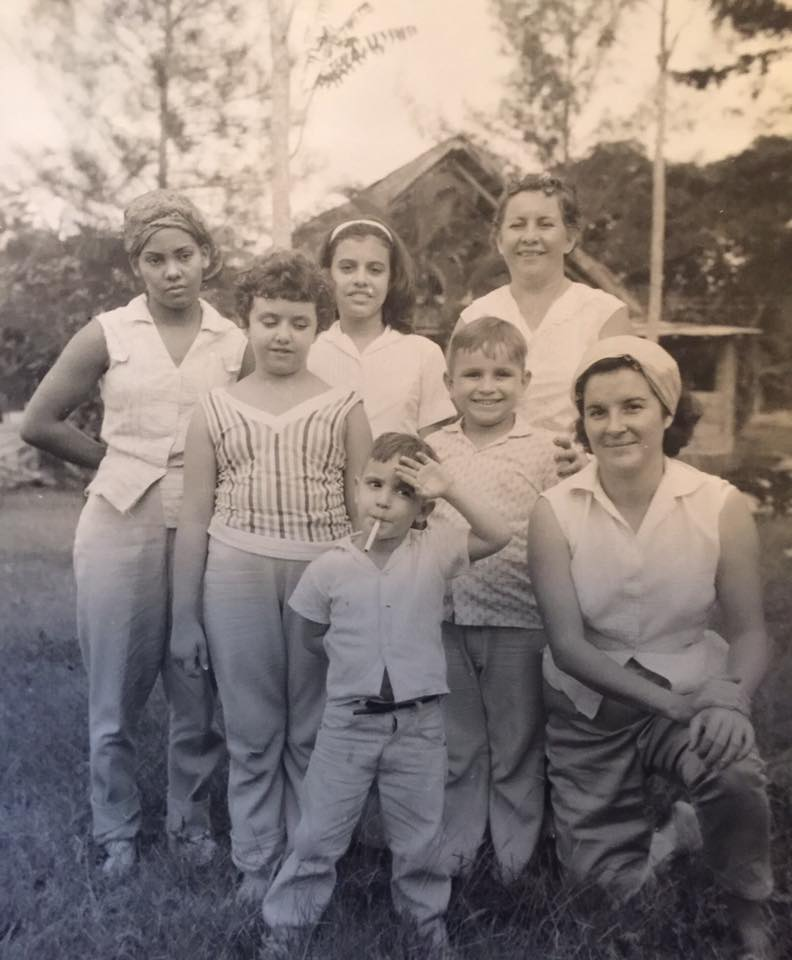 Member of the Guerra family on the family farm in Holguin, Cuba.