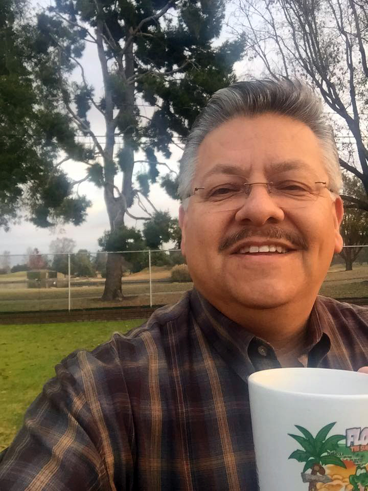 Rick Rodriguez takes a selfie in the backyard of his Downey home, in this Facebook photo dated Jan. 6, 2016.