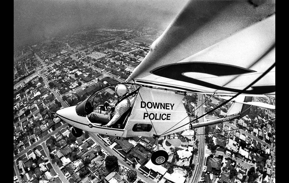 Los Angeles Airways operated a helipad near Bellflower Boulevard and Imperial Highway. Photo courtesy L.A.Times