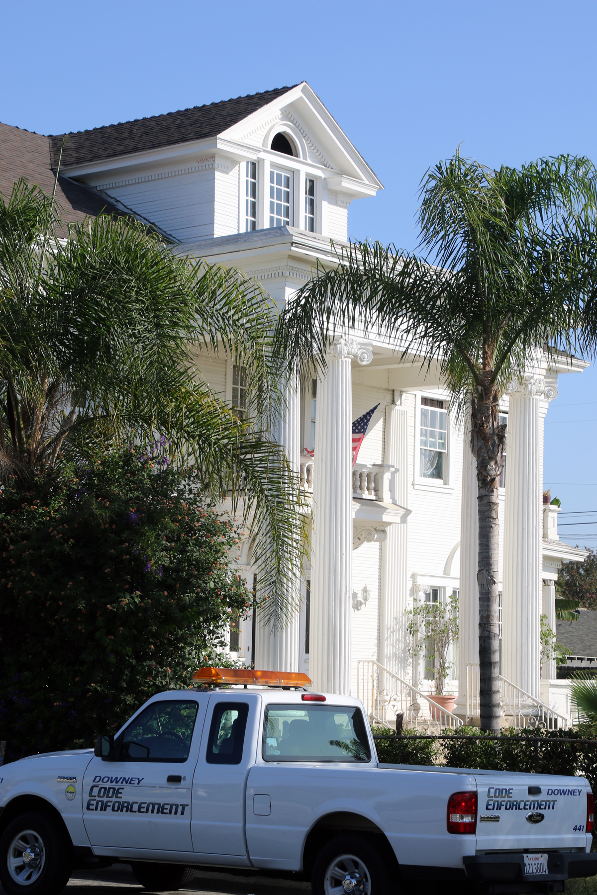 City crews began clean-up efforts at the Rives Mansion property Wednesday. Photo by Eric Pierce