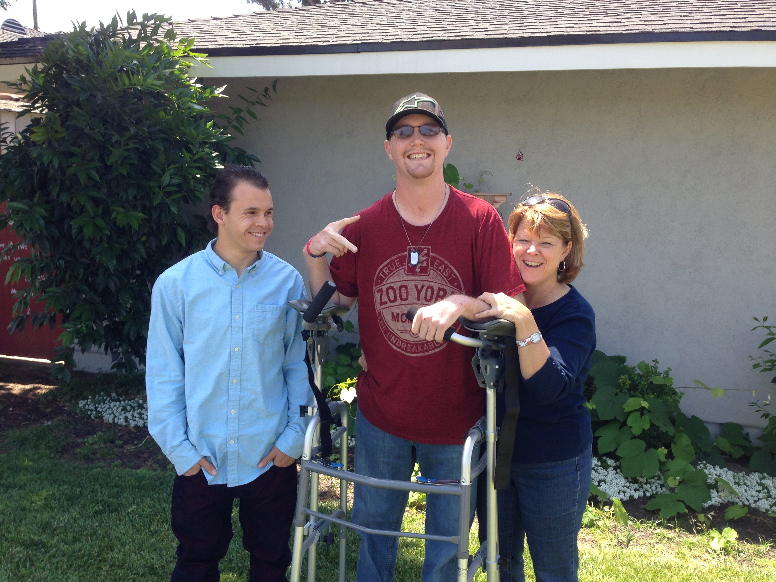 Laura Taylor with her sons Jeremy and Nik. Photo provided by Laura Taylor