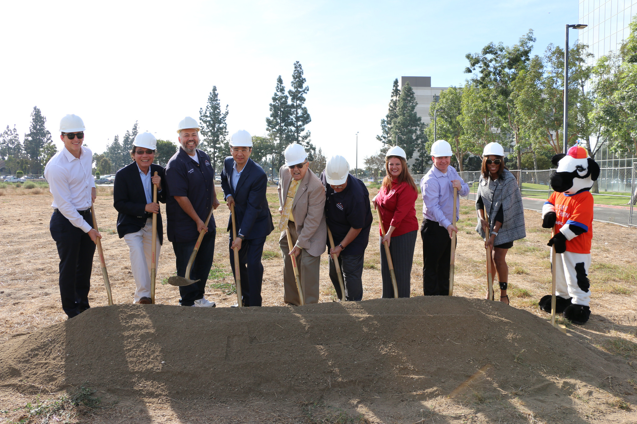 Officials break ground on the new Fitness Village. City of Norwalk photo.