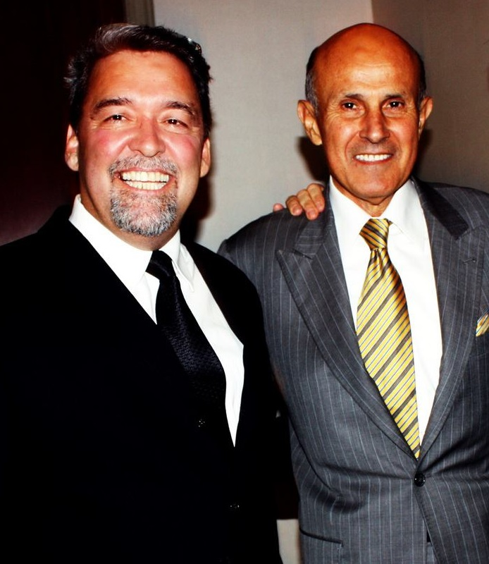 Brian Hews, left, and former L.A. County Sheriff Lee Baca.