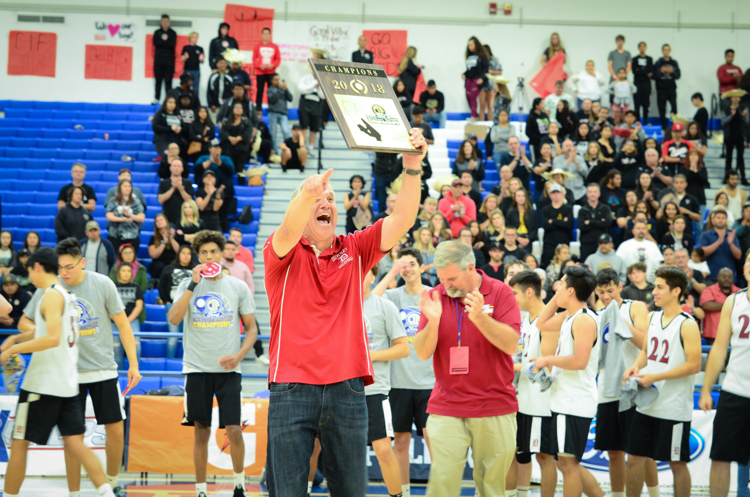 Downey High coach of the year Robert McCarthy. Photos courtesy DUSD