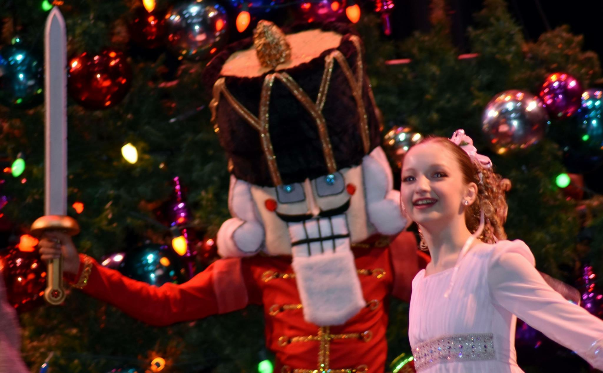 "Zeraphine Jaeckel stars as Clara in ""The Nutcracker,"" playing next month at the Downey Theatre."