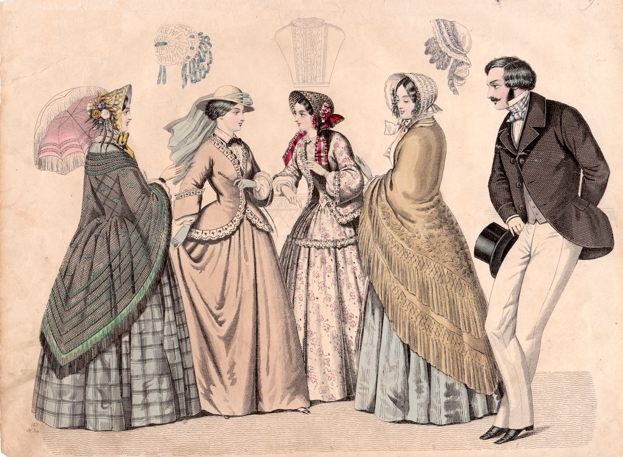 Fashion of the 1860's. Courtesy  Paper Collector  blog.