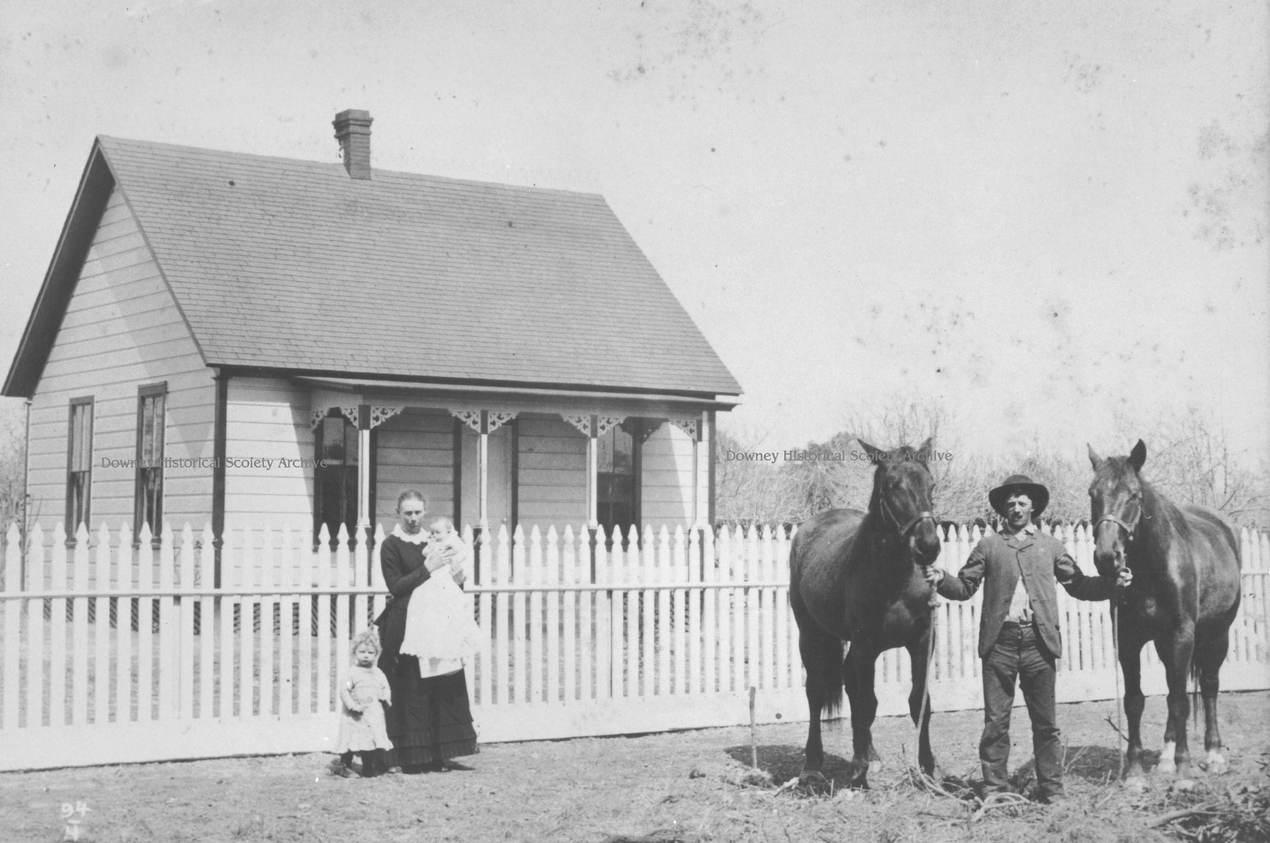 The Downey home of Edwin Price Dismukes in the late 1800's. Photo courtesy Downey Historical Society
