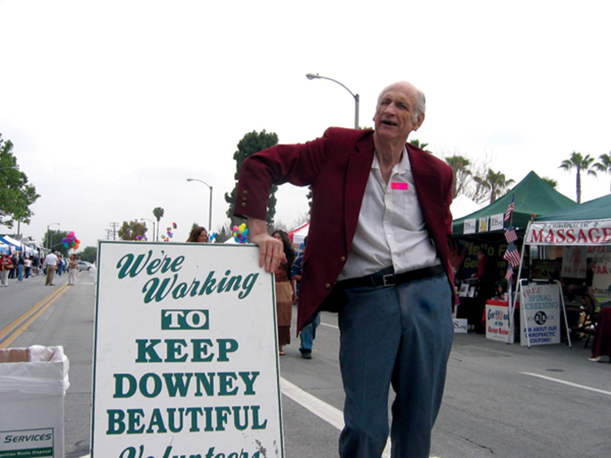 John Adams at a Downey Street Faire event in the mid-2000s. Photo by Eric Pierce