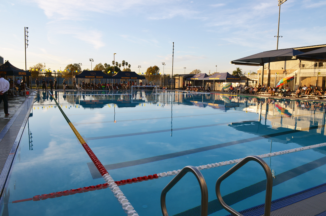 The Murdoch Fraser Aquatics Center at Warren High, which opened in October of 2017, was financed by Measure O.