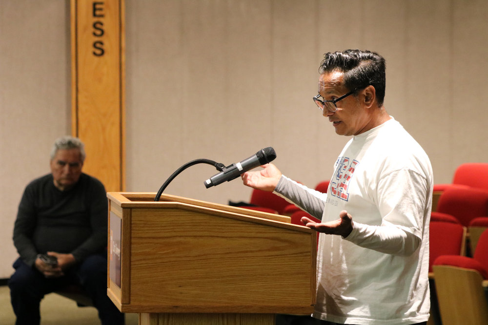 PHOTO BY ALEX DOMINGUEZ   Armando Herman frequently curses and uses derogatory language during public comment periods at Downey city council meetings.