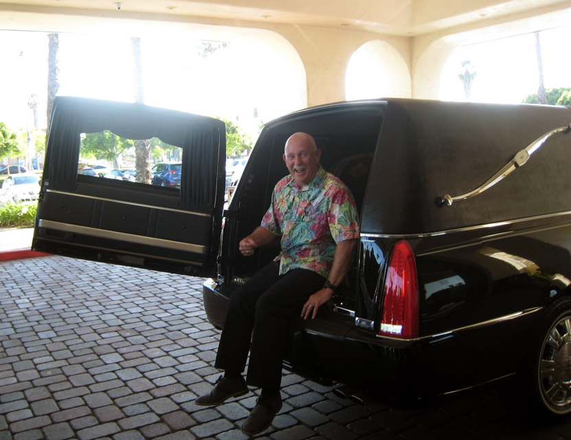 Greg Welch arrives at his Rotary demotion ceremony. Photos by Lorine Parks