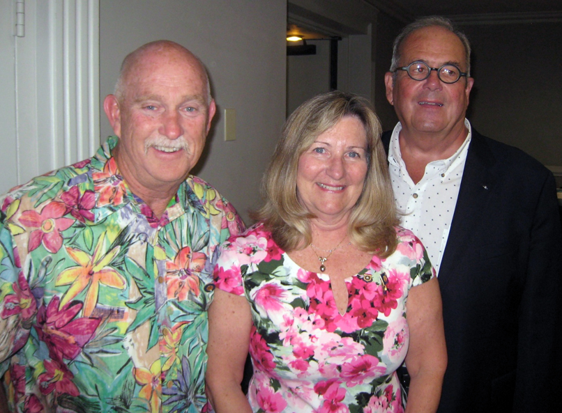 Greg and Barbara Welch, and Doug Baker.