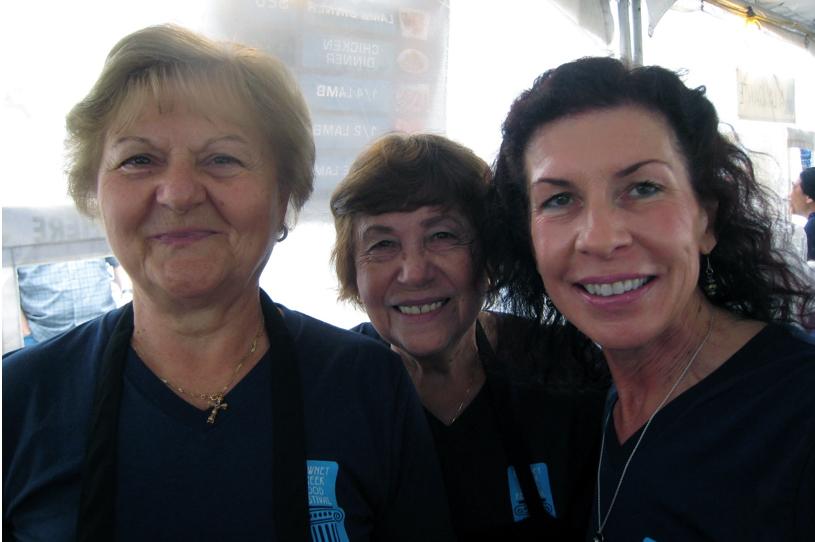Dora Kotsis, Christina Karapanos, and Christina Sparangis.