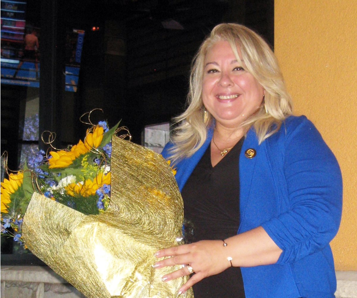 Judy Gallardo De Cisneros was recently installed as president of Soroptimist International of Downey. Photo by Lorine Parks