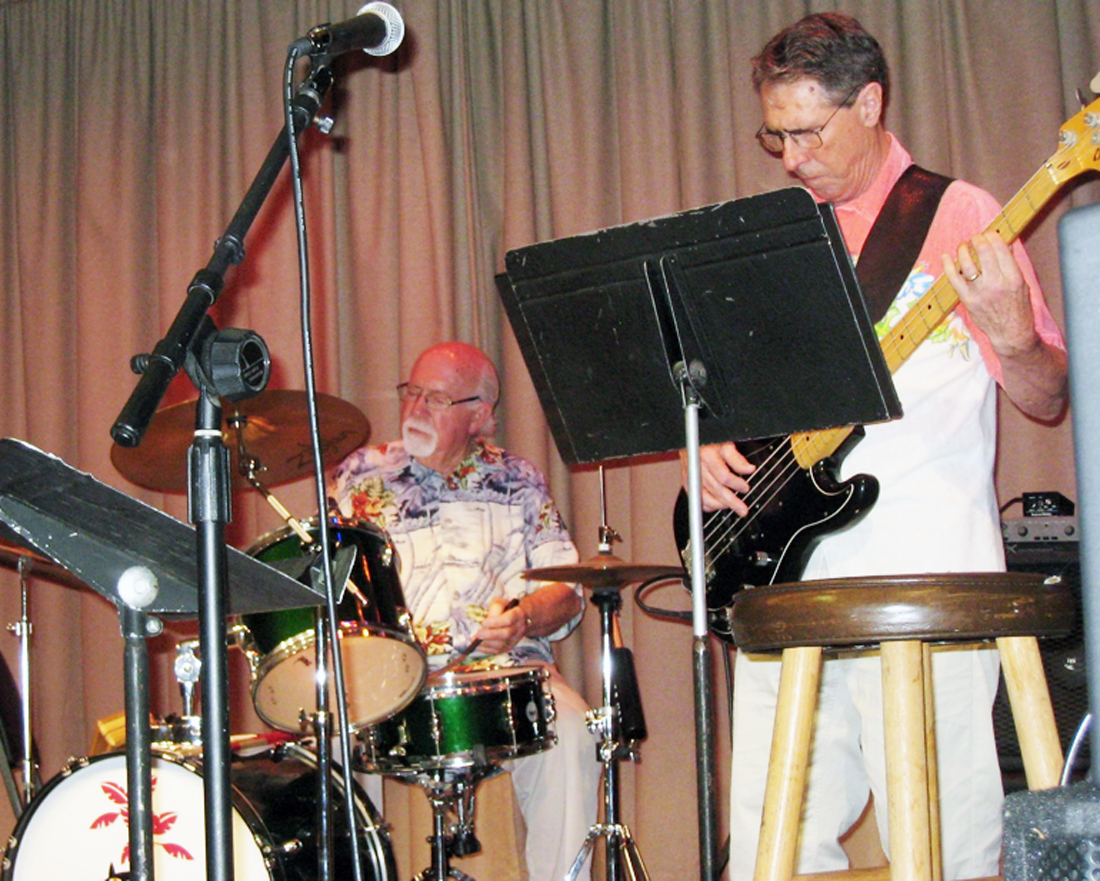 Bill Hare on drums and Mark Artusio on electronic double bass. Photo by Lorine Parks