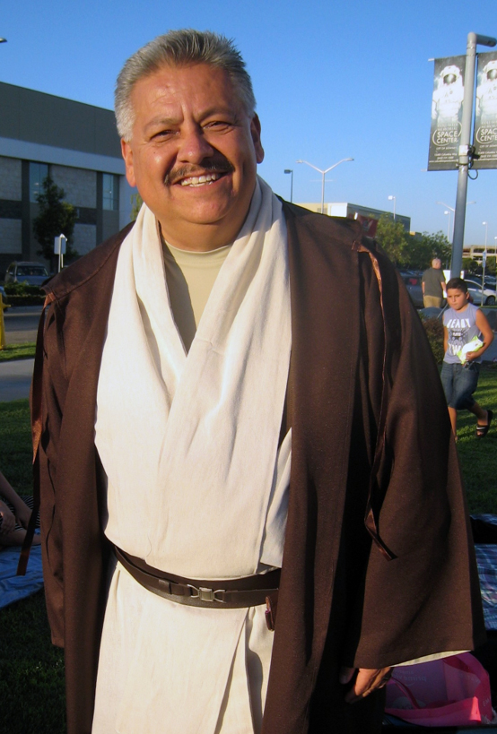 """Mayor Rick Rodriguez at his first """"Movie with the Mayor"""" event last Saturday. Photo by Lorine Parks"""