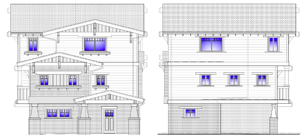 A rendering of the 12 townhomes being built at 7224 Florence Ave.