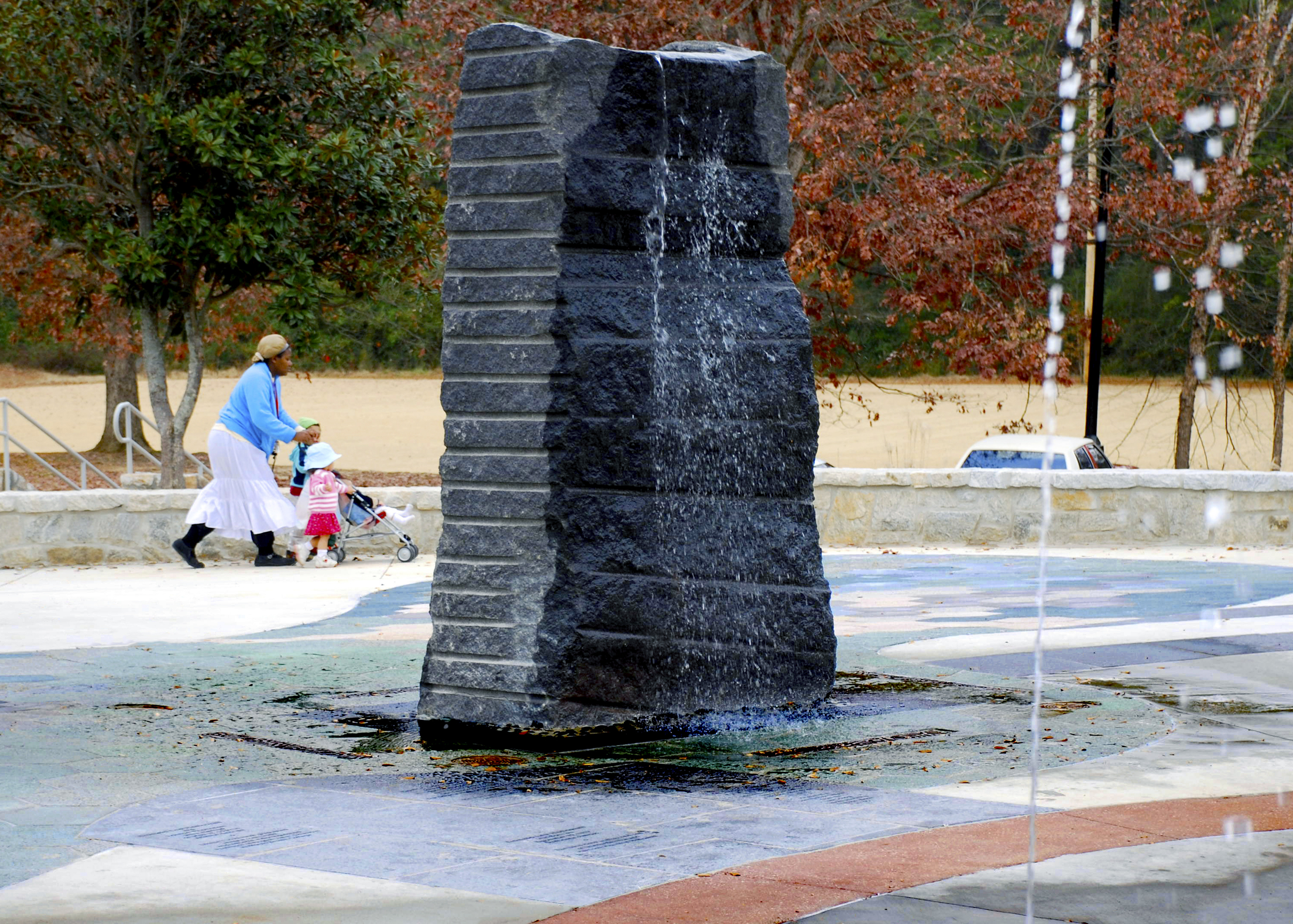 Standing Quarry Stone Fountain