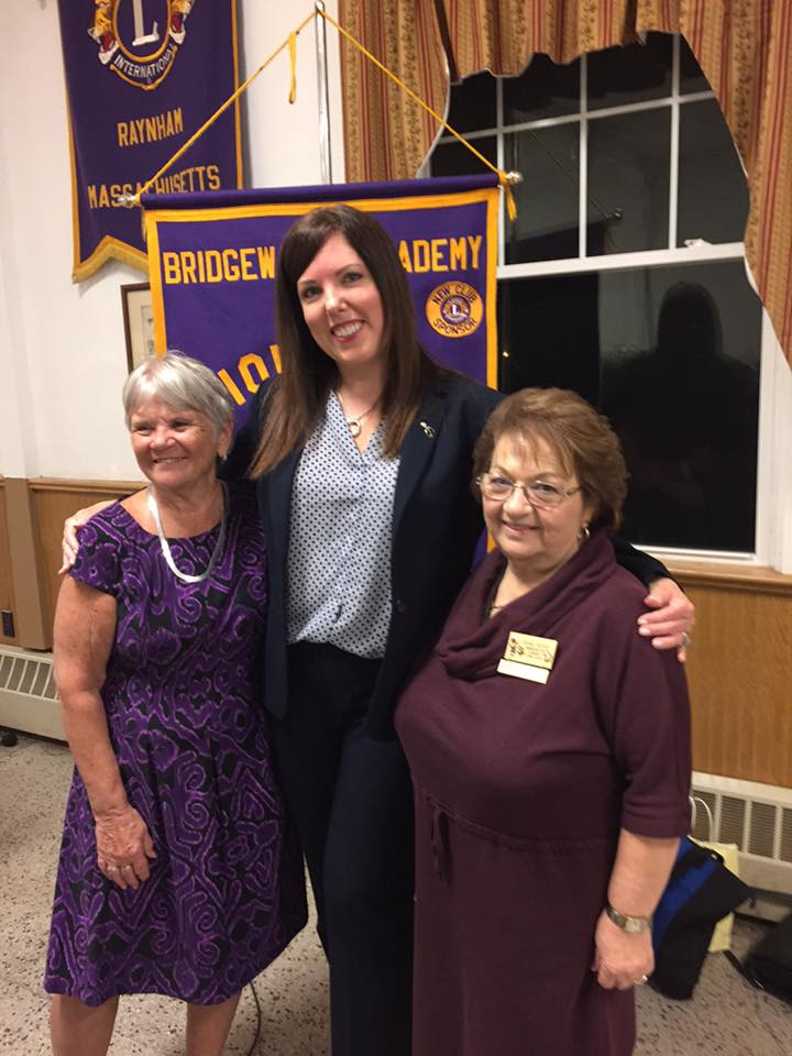 Speaking at the Lions club tonight. Grateful to be with 2 of the most Amazing ladies I've ever known! Thank you so much for the opportunity!  Bridgewater and Area Lions Club ! ❤️ — in  Raynham Center, Massachusett