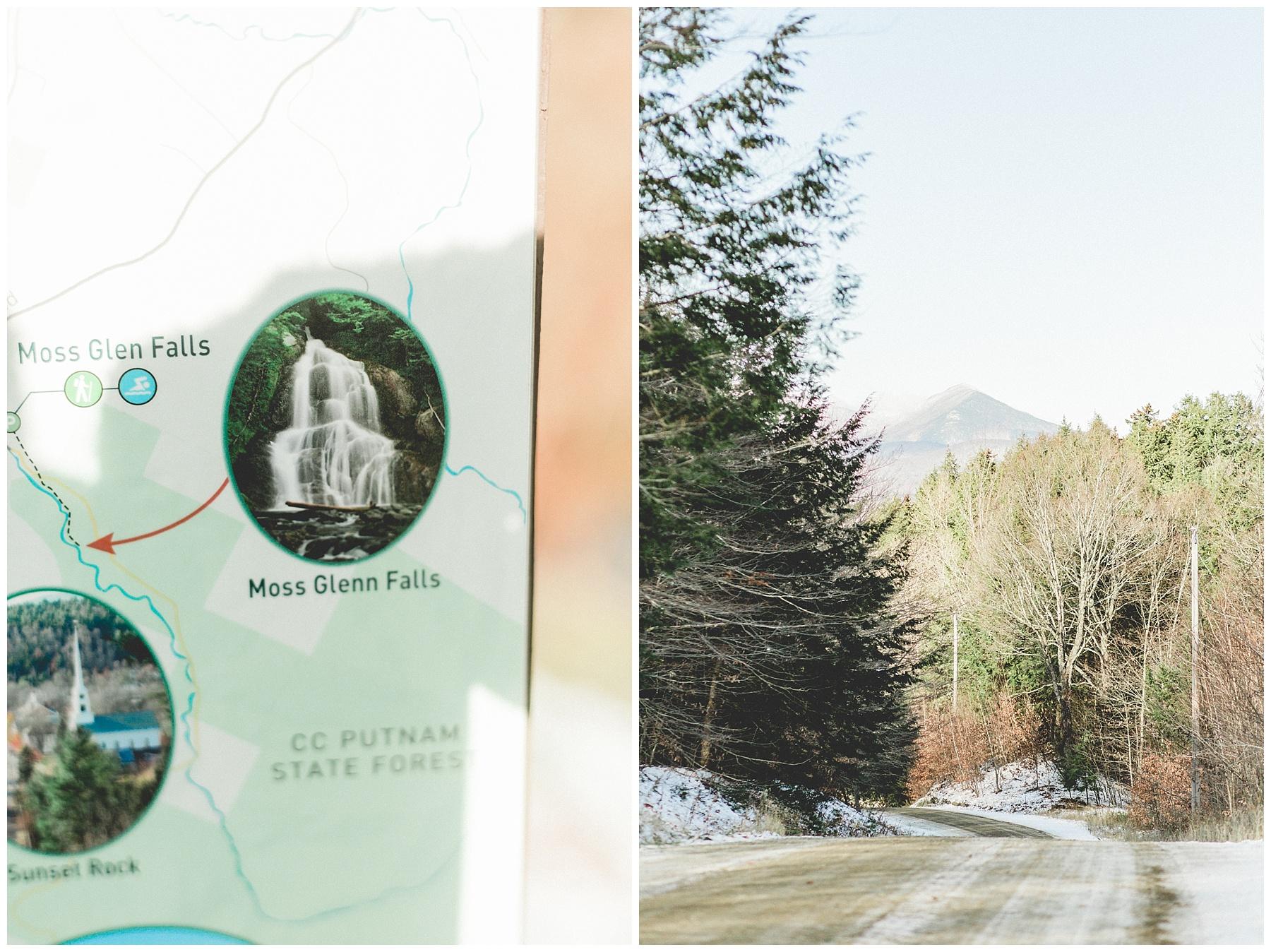 vermont, stowe, engaged, mountains, wanderlove, discoverwanderlove, beauty, proposal, proposal story, ben and jerrys, icecream, rec path, moss glenn falls
